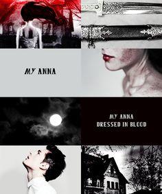 Anna dressed in blood ~ Mi Anna. Mi Anna vestida de sangre...