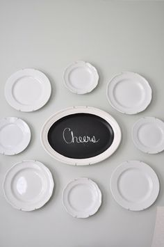 DIY dining room art with plates