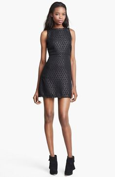 Alice + Olivia 'Sardo' Leather Detail Dress available at #Nordstrom