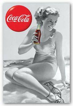 Vintage Coca-Cola pin-up Coca Cola Poster, Coca Cola Ad, Always Coca Cola, Retro Ads, Vintage Advertisements, Vintage Ads, Vintage Posters, Pin Up Vintage, Vintage Signs