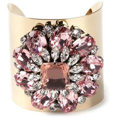 MARINA FOSSATI embellished cuff ($376) found on Polyvore
