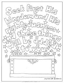 Seek First His Kingdom Free Kid S Coloring Page Matthew 6 33