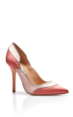 Guiana Satin Pumps by Oscar de la Renta Now Available on Moda Operandi