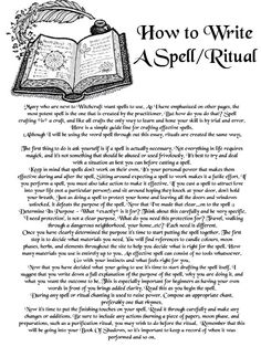 Magick Spells: How to Write a Spell/Ritual.