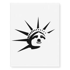 Lady Liberty Temporary Tattoo #StatueOfLiberty #Statue #Liberty #USA #America #Patriotic #Tattoo