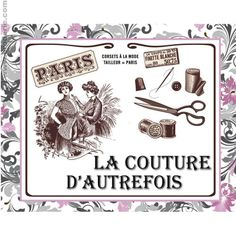 Broderie Point de Croix Pique aiguilles la couture d'autrefois Marie Coeur 1149.4810 - La Maison du Canevas et de la Broderie