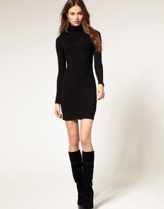 I love this dress. If you found a fitted jersey short , long sleeve, turtle neck i would love it. True turtle neck. Not a mock or cowl neck