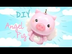 Angel Pig! Kawaii Friday 155 polymer clay charm tutorial