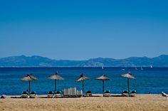 L'Escala, Girona, Costa Brava , Catalunya Platja de Riells / Riells Beach