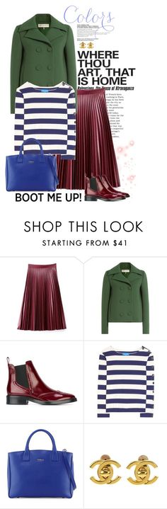 """""""Kick It: Chelsea Boots"""" by frechelibelle ❤ liked on Polyvore featuring WithChic, Emilio Pucci, Burberry, M.i.h Jeans, Furla and Chanel"""