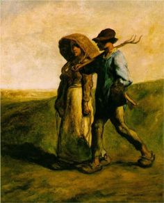Going to Work - Jean-Francois Millet
