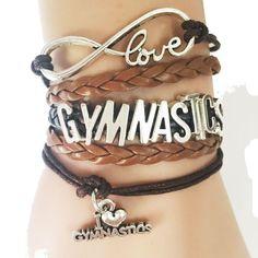 Gymnastics Love Bracelet Heart - Handmade