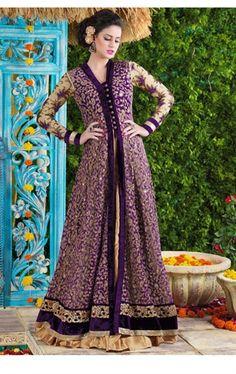 Vibrant Violet Designer Lehenga Pant Kameez Set