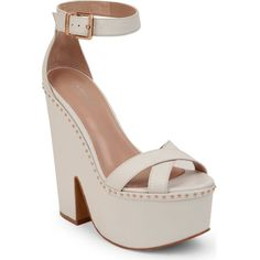 CARVELA Glory heeled platform sandals ($61) ❤ liked on Polyvore