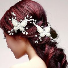 Bridal Vintage Style Butterfly Hair Piece Comb Tiara Barrette Austrian Crystal