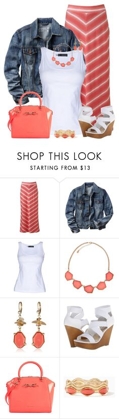 """Denim Jacket & Skirt"" by maggie478 ❤ liked on Polyvore featuring Sonoma life + style, Gap, Dsquared2, Accessorize, Kenneth Cole, Steve Madden and Ted Baker"