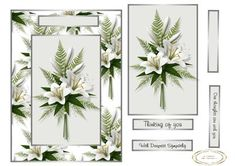 lilies for sorrow on Craftsuprint designed by Heather Howes - a sympathy card for a sad occasion - Now available for download!