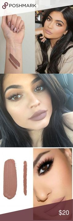 Kylie Cosmetics 'Maliboo' Lip Kit Liquid Lipstick Guaranteed 100% authentic - please see order confirmation from the Kylie Cosmetics site. Super beautiful nude color, but doesn't work on my pale skin tone. Only tested once. If you're interested in the matching lip pencil, I can list that as well. Kylie Cosmetics Makeup Lipstick