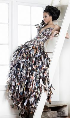Made from Vogue magazines...verra cool!