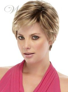 New Arrival Short Straight Monofilament Top Synthetic Wig 6 Inches