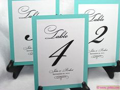 Hey, I found this really awesome Etsy listing at https://www.etsy.com/listing/165116427/tiffany-blue-table-numbers-breakfast-at