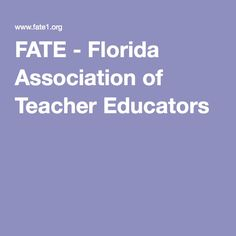 FATE - Florida Association of Teacher Educators