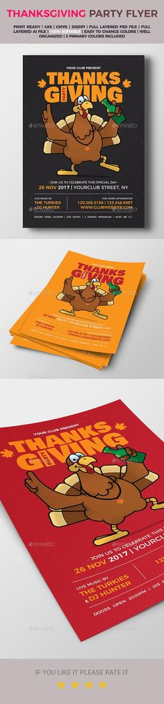 #Thanksgiving Party #Flyer - Holidays Events