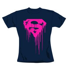 100% cotton, Women's crew neck t-shirt http://www.badsheepboutique.com/superman-dripping-logo-t-shirt-220-p.asp