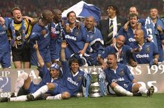 17 May 1997: CHELSEA celebrate their win over Middlesbrough in the FA Cup Final at Wembley Stadium. Chelsea won 2-0...