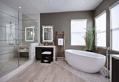 Creating your spa bathroom incorporates space, color and texture.