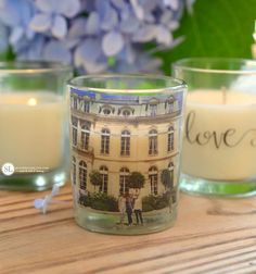 Photo Tape Transfers - Custom Candle Holders #michaelsmakers