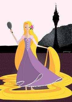 """Origami Series"" Rapunzel by Paulway Chew"