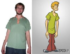 real people look like cartoons shaggy scooby doo