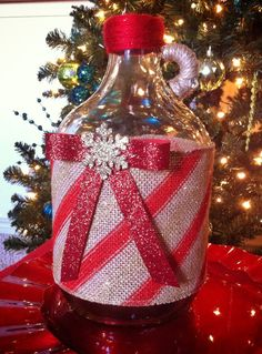 Candy Cane Christmas Table Decor by tinamarietwo on Etsy