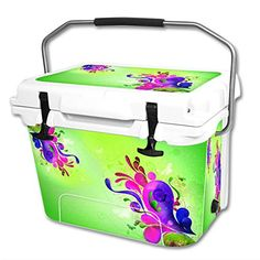 MightySkins Protective Vinyl Skin Decal Wrap for RTIC 20 qt Cooler cover sticker Pastel Flourishes >>> Check out the image by visiting the link.(This is an Amazon affiliate link)