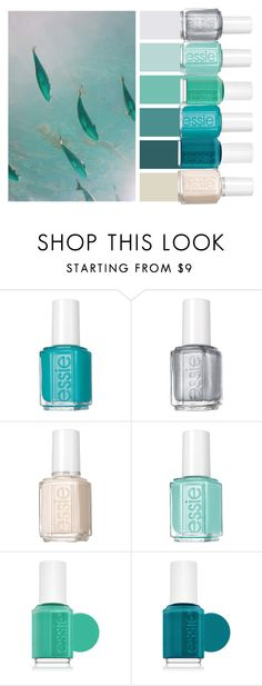 """Swimming Fish"" by chawy-mk ❤ liked on Polyvore featuring beauty and Essie"