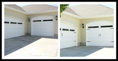 Plain Garage doors to Carriage Door... Just add hardware!
