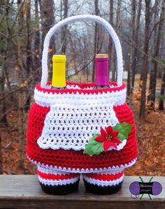Mrs. Claus Gift Basket crochet pattern from Blackstone Designs. Don't forget the Santa & Elf Pants Gift Baskets too!
