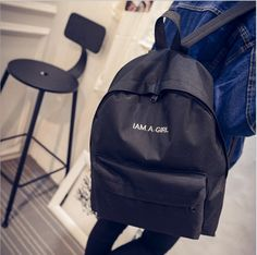 $8.36 (Buy here: https://alitems.com/g/1e8d114494ebda23ff8b16525dc3e8/?i=5&ulp=https%3A%2F%2Fwww.aliexpress.com%2Fitem%2FI-Am-A-Girl-2017-New-School-Backpack-Mochila-Escolar-Women-s-Backpack-Ladies-Mochilas-For%2F32791182465.html ) I Am A Girl 2017 New School Backpack Mochila Escolar Women's Backpack Ladies Mochilas For Teenage Girls Feminina Masculina Child for just $8.36