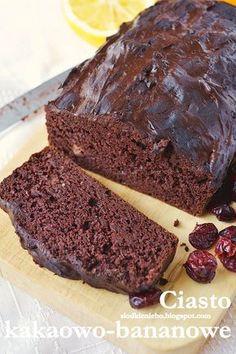 Słodkie niebo: Zdrowe kakaowo- bananowe ciasto z fasoli (bezglutenowe, bez mąki)