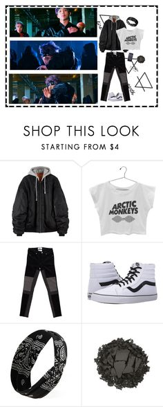 """""""Bts """"Not today"""""""" by ohmyheartu ❤ liked on Polyvore featuring INDIE HAIR, Paige Denim, Vans, Forever 21, Urban Decay and BOBBY"""