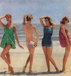 1959 beach wear