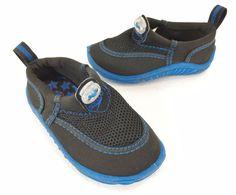 Speedo Baby Water Shoes Toddler S 5 - 6 Waterproof Black & Blue #Speedo #WaterShoes