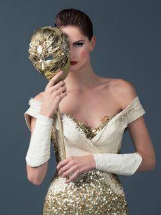 The night of the masquerade. Gold Fashion, Fashion Beauty, Female Mask, Warrior Queen, Venetian Masks, Portraits, Model Face, Masquerade Ball, Masquerade Tattoo