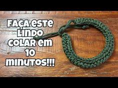 COMO FAZER UM LINDO COLAR DE CROCHÊ EM 10 MINUTOS!!! - YouTube