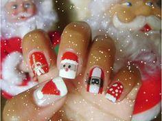 Nail art Papai Noel