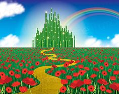 Printable Wizard of Oz Backdrop Instant Download by ThumbAlinaLane