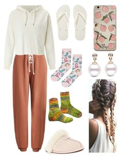 """""""15.04.17-16.04.17 #cascinale #sistudia"""" by nena69 ❤ liked on Polyvore featuring Havaianas, Vince, Puma, Miss Selfridge, UGG and Topshop"""