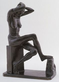 Nan Seated, 1911 by Jacob Epstein. Modern Sculpture, Garden Sculpture, Art Database, Museum Of Modern Art, Body Image, Sculpting, Statue, Portrait, Artwork