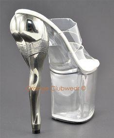 PLEASER Womens Sexy Leg Shaped High Heel Stripper Shoes   eBay